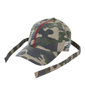 Double long strap ballcap camo