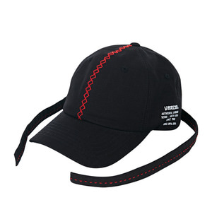 Double long strap ballcap black