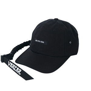 Paracord bracelet point ballcap black