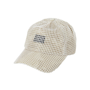 Mesh cover point ballcap beige
