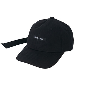 Double adjuster point ballcap black
