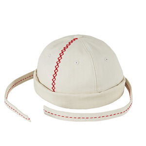 Short bini style ballcap part.1 cream